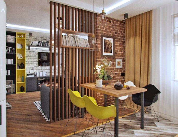 Ngôi nhà rộng rãi hơn với các mẫu vách ngăn gỗ công nghiệp