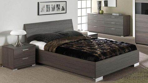 Giường ngủ hiện đại với chất liệu gỗ MFC