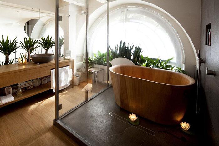 Vật tư nội thất phòng tắm với gỗ công nghiệp