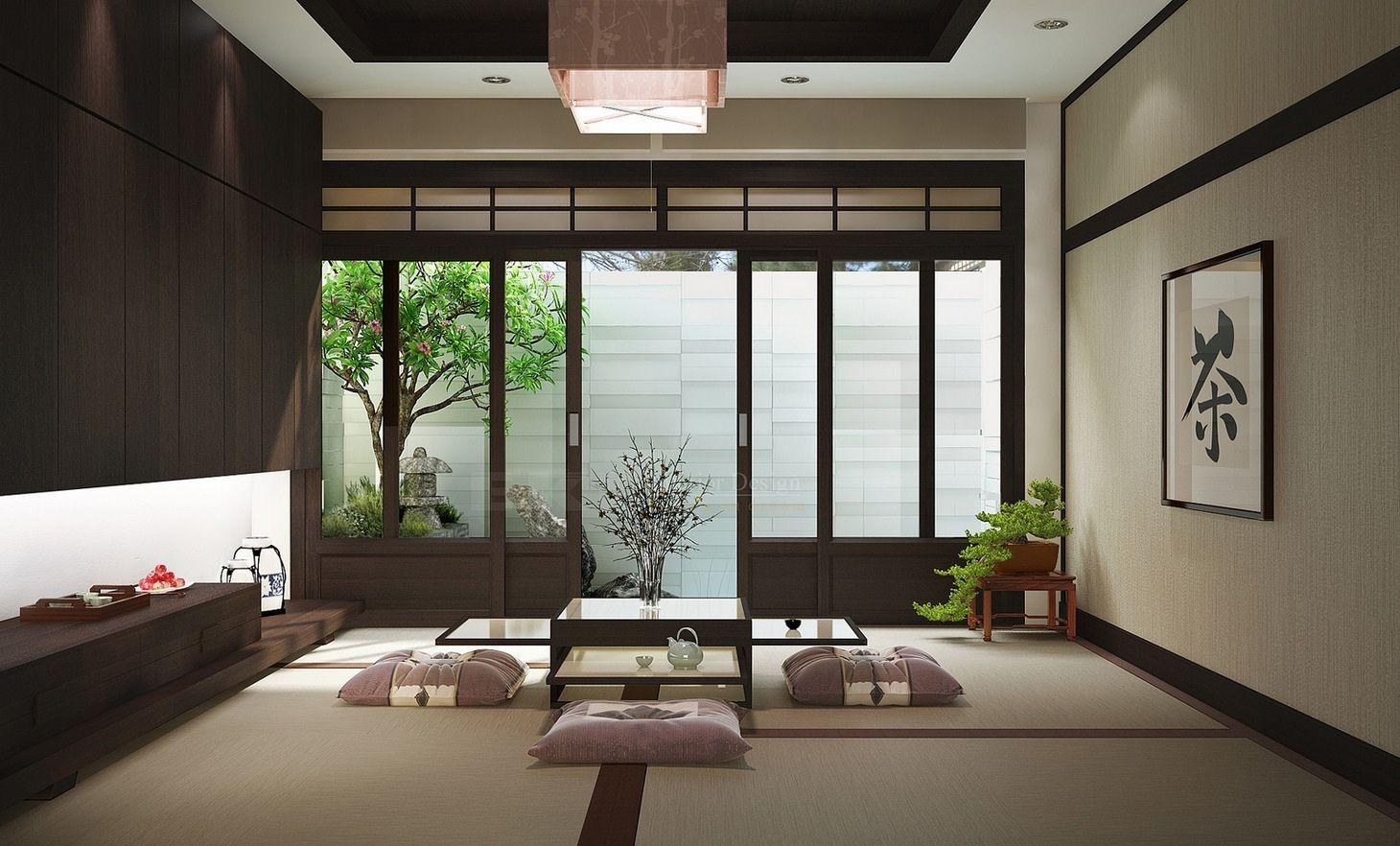 Thiết kế, gia công nội thất phòng khách phong cách Nhật Bản