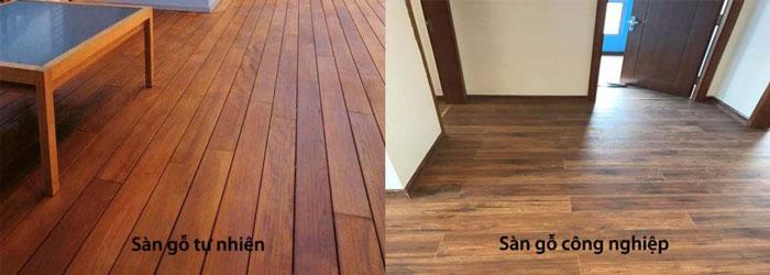 So sánh sàn gỗ công nghiệp và sàn gỗ tự nhiên