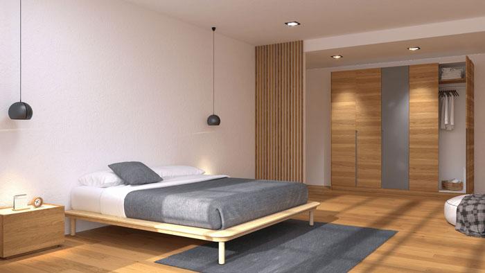 Cá tính cùng tủ quần áo gỗ MDF trong không gian hình học
