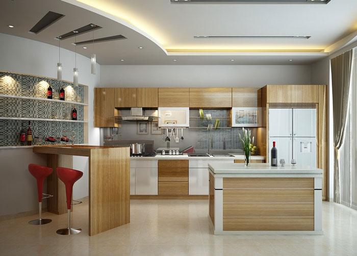 Tủ bếp MFC - Loại tủ bếp được lòng tất cả các bà nội trợ