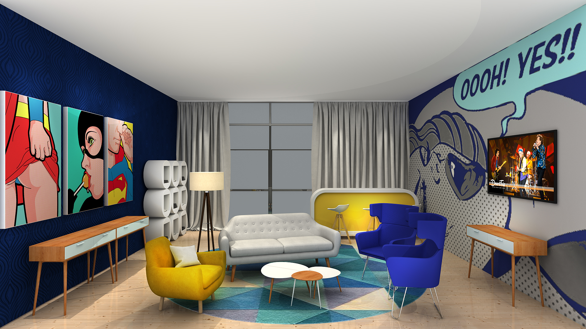 Phong cách Pop Art trong thiết kế nội thất
