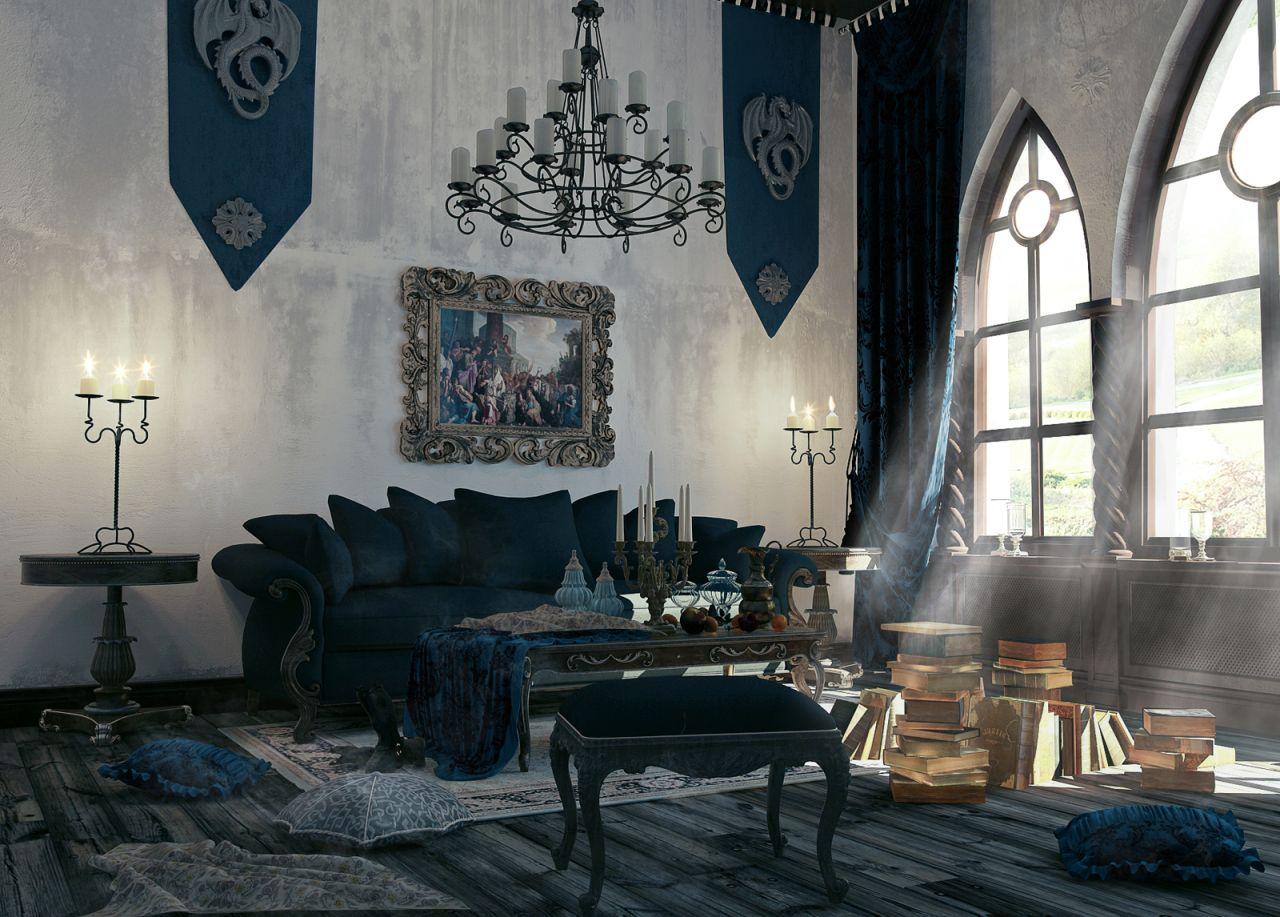 Phong cách Gothic trong thiết kế nội thất