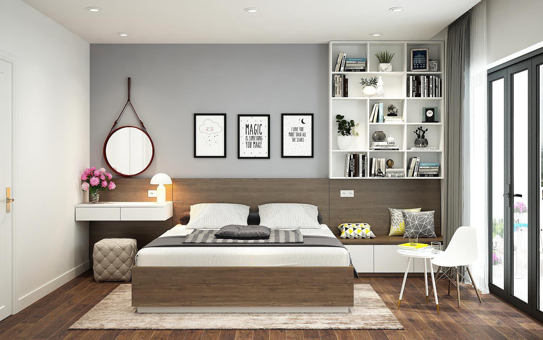 Giường ngủ hiện đại với chất liệu laminate cao cấp