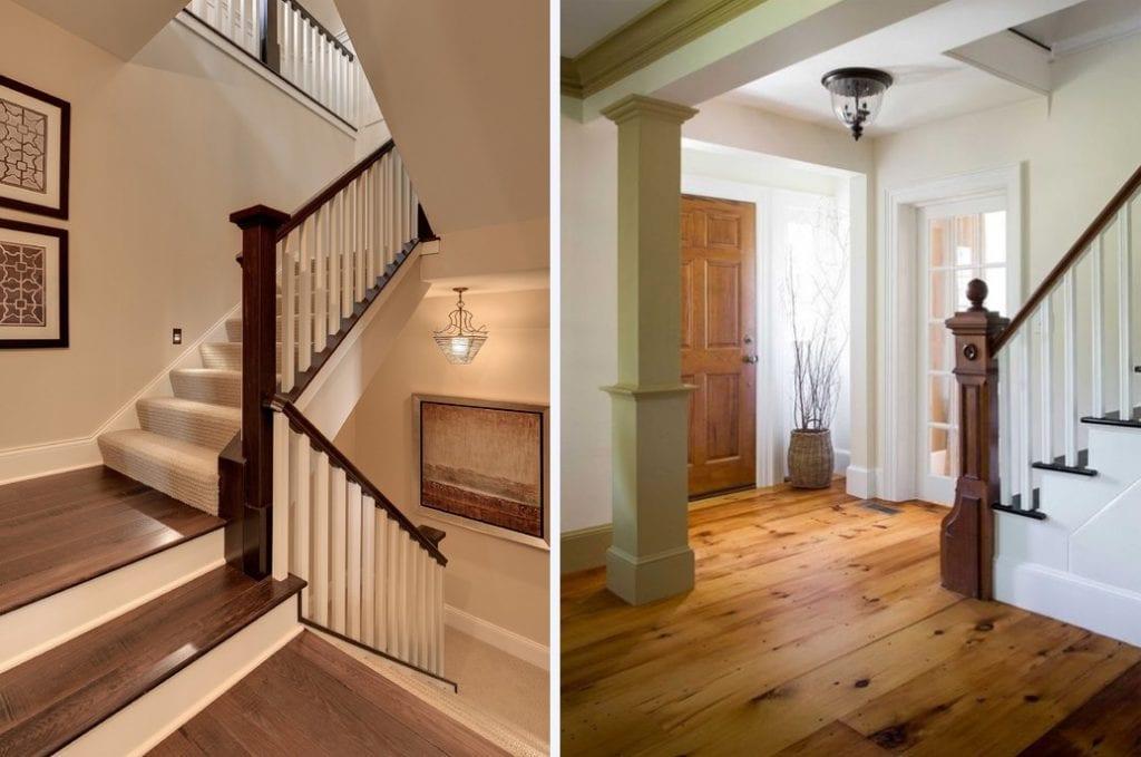 Mẫu trụ cầu thang gỗ đẹp trong thiết kế cầu thang bộ