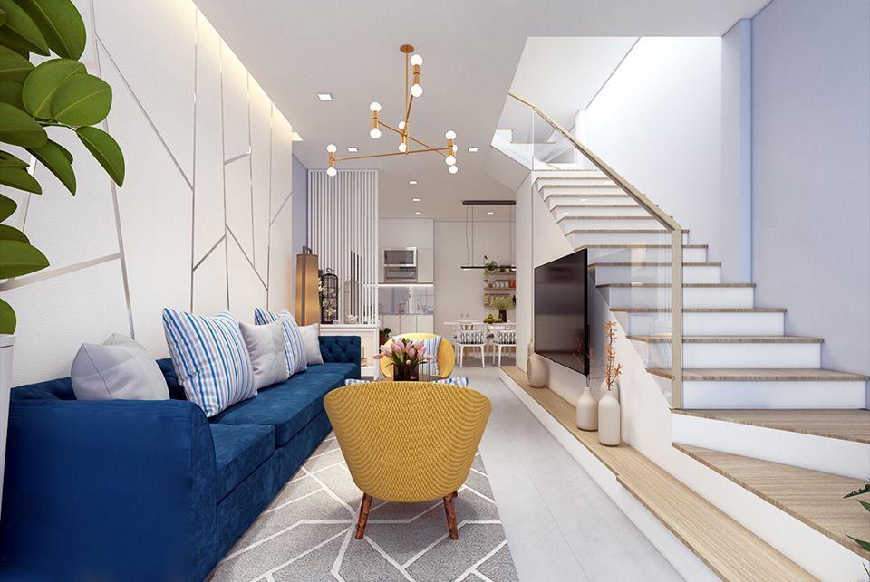 Ý tưởng thiết kế phòng khách nhà ống đẹp và sang trọng