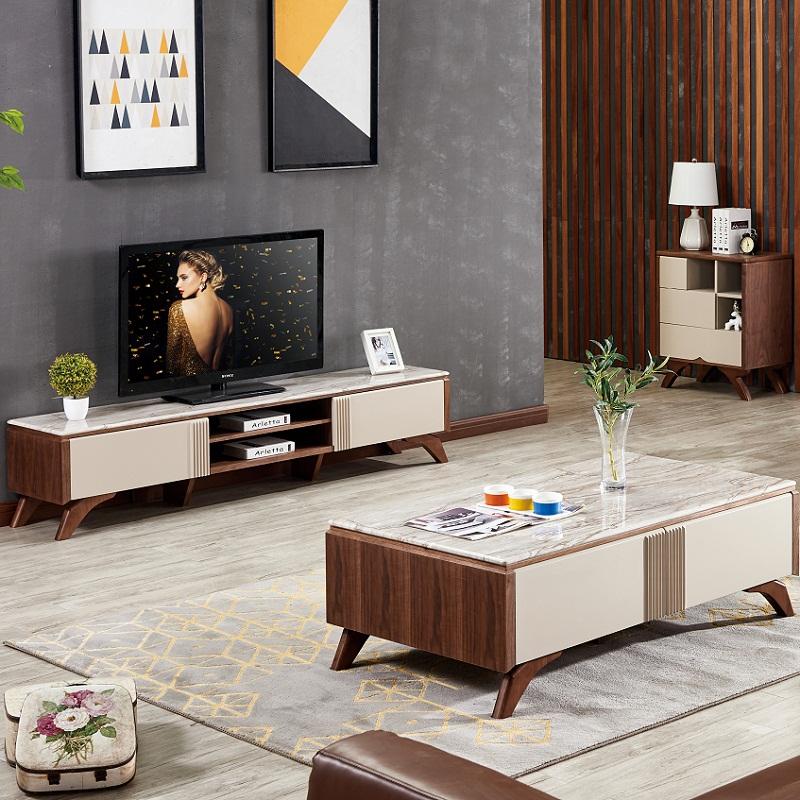 Ứng dụng gỗ MDF trong thiết kế gia công kệ tivi mặt đá