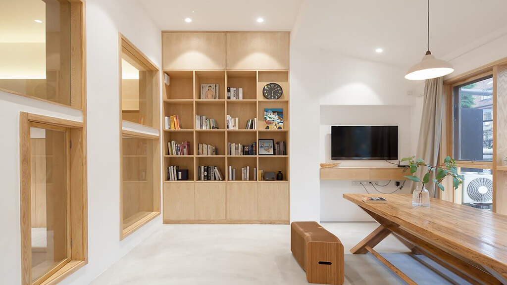 Thi công nội thất với chất liệu gỗ công nghiệp MDF