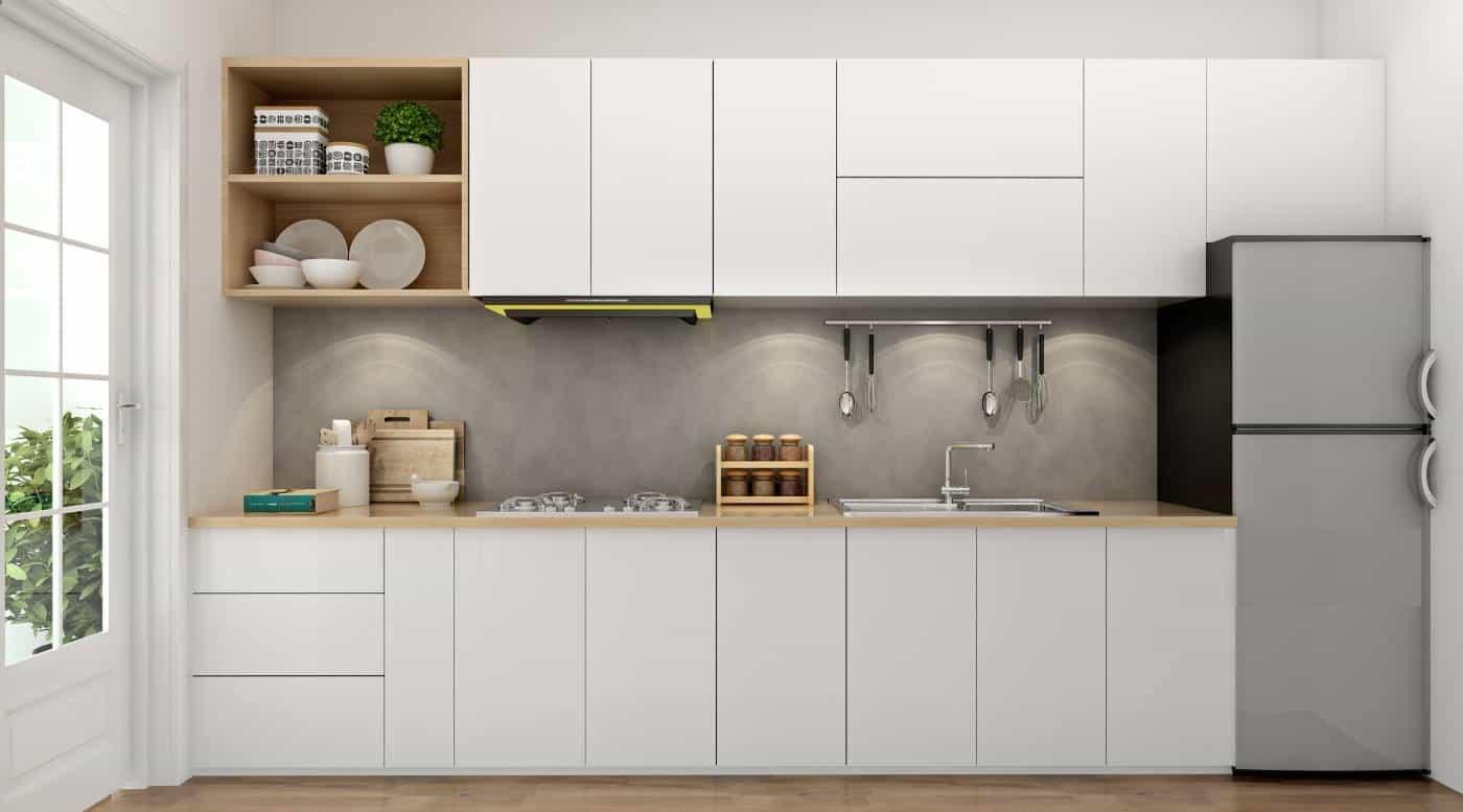 Ứng dụng chất liệu gỗ MDF trong thiết kế gia công tủ bếp