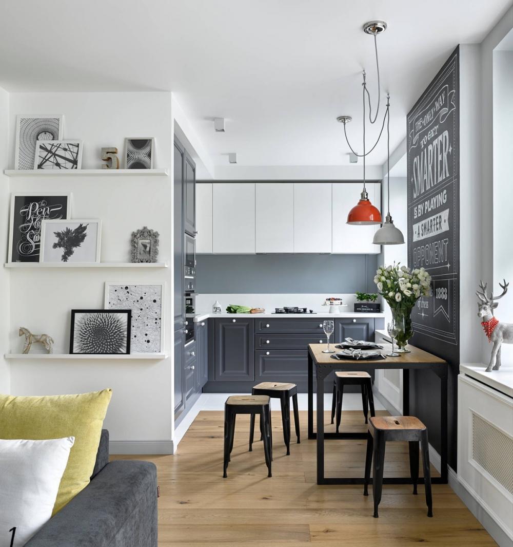 Làm thế nào để thiết kế phòng bếp nhỏ đẹp mà vẫn tận dụng được tối đa không gian sinh hoạt