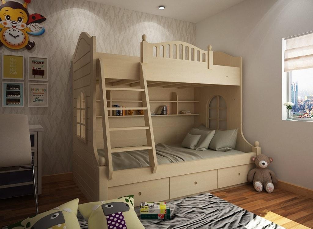 Giường tầng - nội thất đa năng cho thiết kế phòng ngủ hiện đại