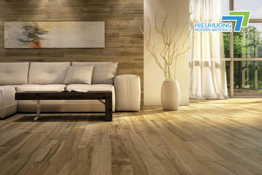 Sàn nhà sử dụng gỗ ghép thanh