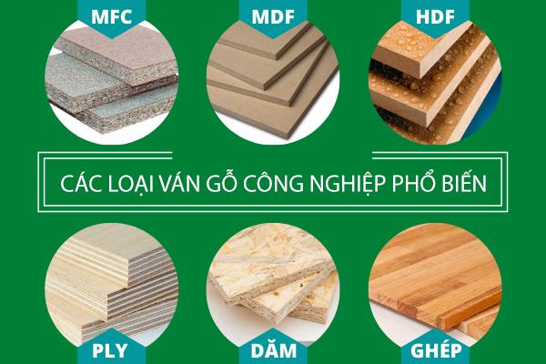 Đa dạng về chủng loại gỗ công nghiệp