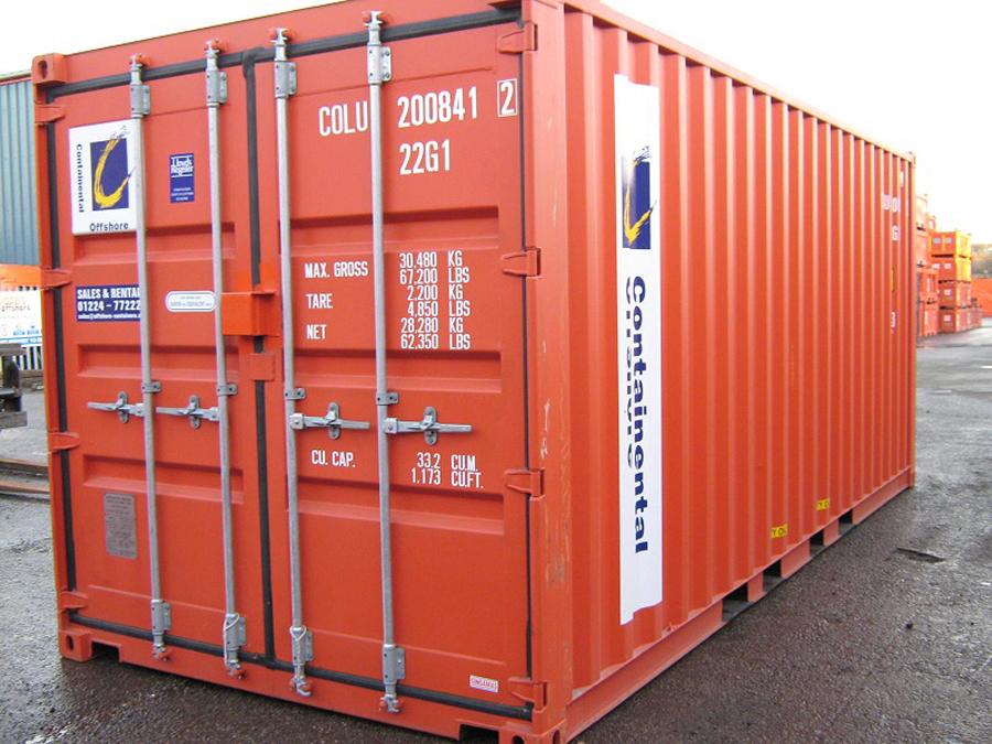 Hình ảnh thùng Container màu đỏ